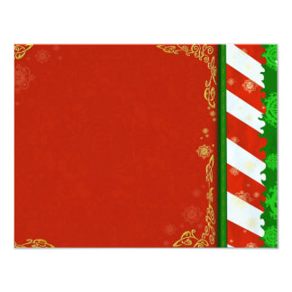 "Holiday Colors 4.25"" X 5.5"" Invitation Card"