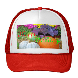Holiday Colors Merry Christmas Design Cap
