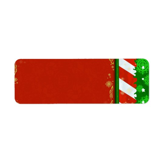 Holiday Colours Return Address Label