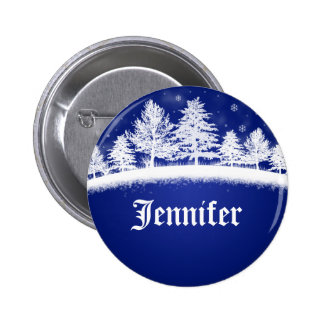 Holiday Company Party Name Tags Blue 6 Cm Round Badge