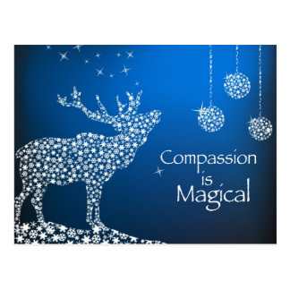 Holiday Compassion is Magical Post Card