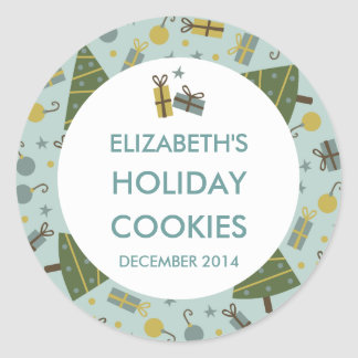 Holiday Cookies Personalised Stickers / Labels