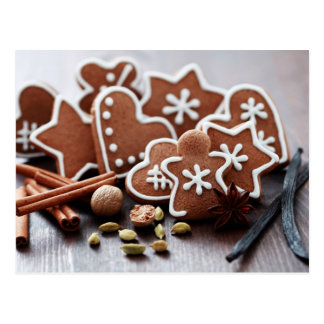 Holiday cookies with spices postcard