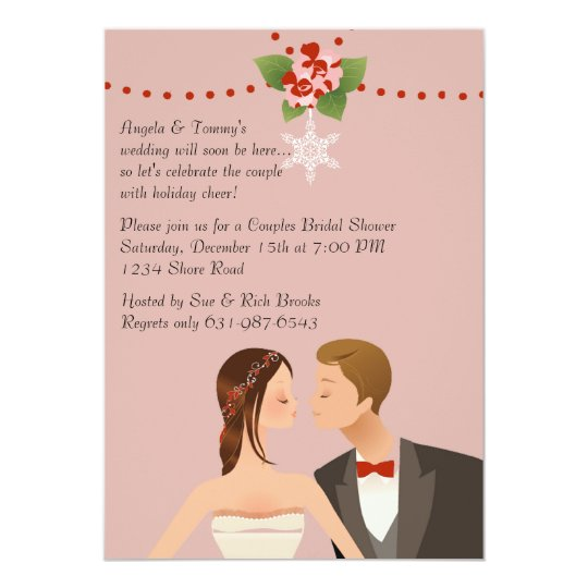 Holiday Couples Bridal Shower Invitation