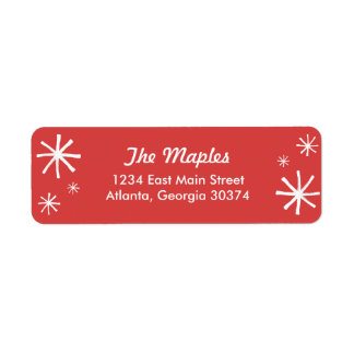 Holiday Crest Red and White Return Address Label