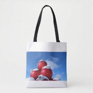 Holiday Decoration with Snow Tote Bag