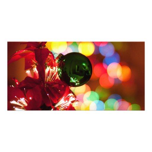 Holiday Decorations Christmas Tree Lights Photo Greeting Card