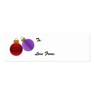 Holiday Decorations Pack Of Skinny Business Cards