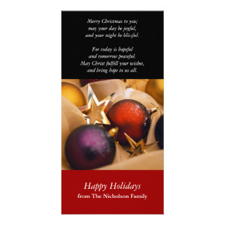 Holiday Decorations Photo Card