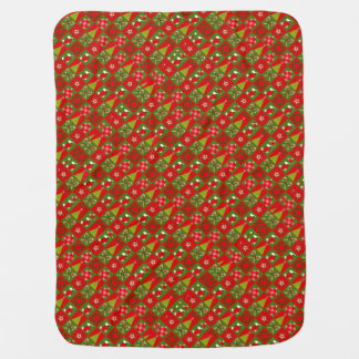 Holiday Decorative Squares Baby Blanket