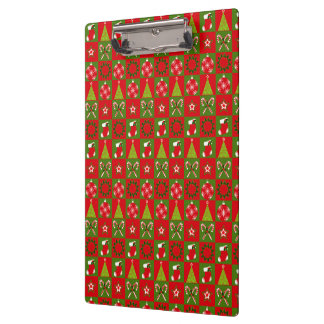 Holiday Decorative Squares Clipboard