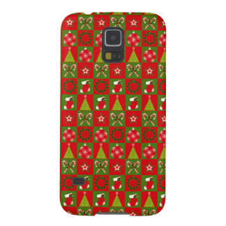 Holiday Decorative Squares Galaxy S5 Cases