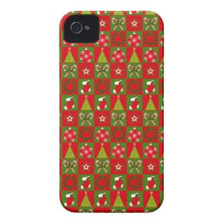 Holiday Decorative Squares iPhone 4 Cover