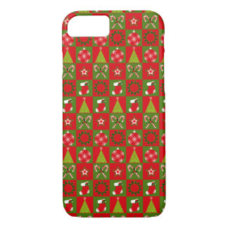 Holiday Decorative Squares iPhone 8/7 Case
