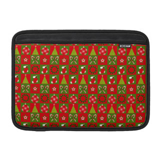 Holiday Decorative Squares MacBook Sleeve
