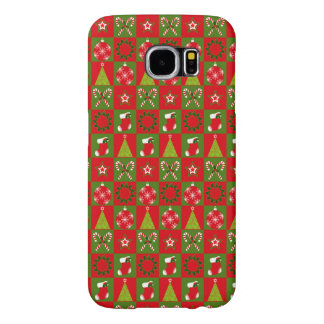 Holiday Decorative Squares Samsung Galaxy S6 Cases