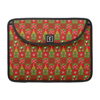 Holiday Decorative Squares Sleeve For MacBooks