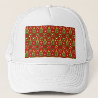 Holiday Decorative Squares Trucker Hat