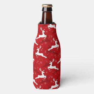 Holiday Deer Pattern Bottle Cooler