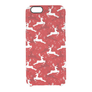 Holiday Deer Pattern Clear iPhone 6/6S Case