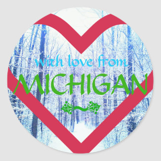 holiday design michigan sticker