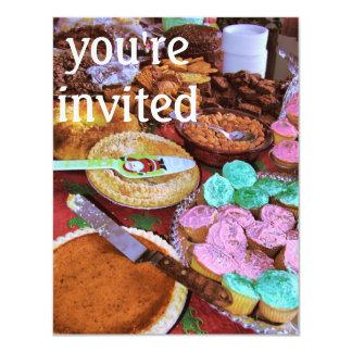 holiday desserts 4.25x5.5 paper invitation card