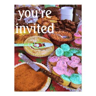 holiday desserts custom invitations