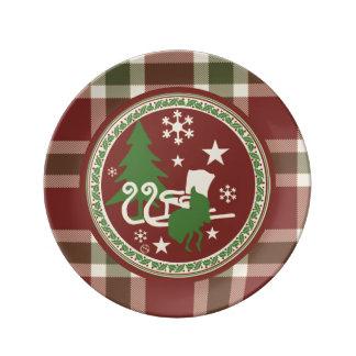 Holiday Dishes Plates - Santa's Sleigh