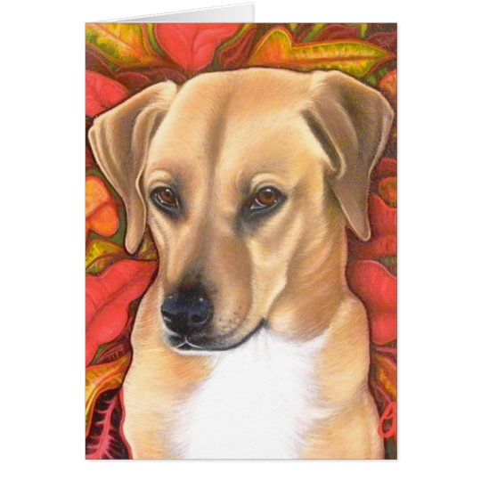 Holiday doggie card. card