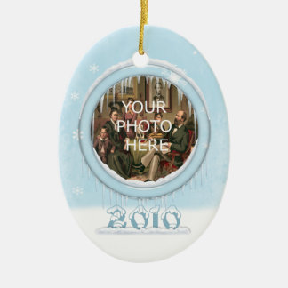 Holiday Dolphins Picture Ornament
