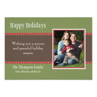 Holiday Dots Flat Card -green/red