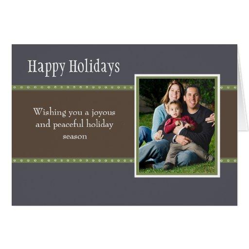 Holiday Dots Folded Card- navy/green