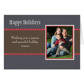 Holiday Dots Folded Card- navy/red
