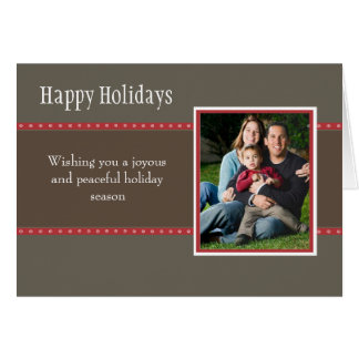 Holiday Dots Folded Card-stone/red