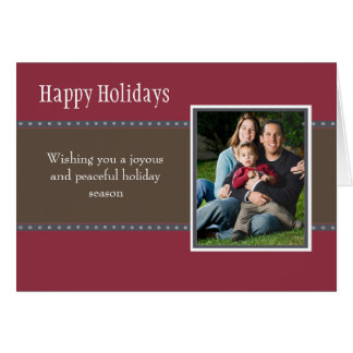 Holiday Dots Folded Card- wine/navy