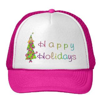 """Holiday Dressing"" Happy Holidays Cap"