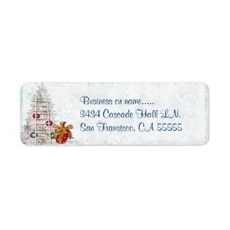 Holiday Elegance Christmas Business Label/Tag Return Address Label