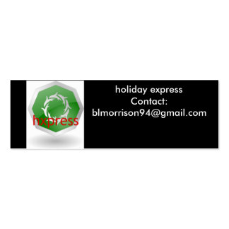 Holiday Express business card