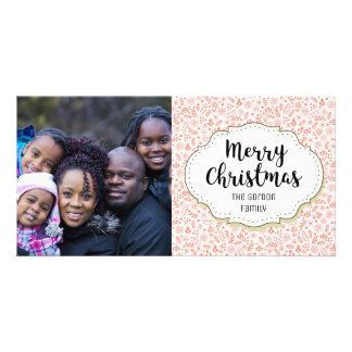 Holiday Festive Decorations Christmas Photo Card