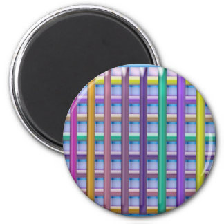 Holiday Fever : Illuminated Colorful Flourscent Ro 6 Cm Round Magnet