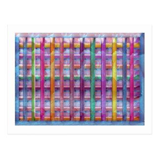 Holiday Fever : Illuminated Colorful Flourscent Ro Postcard