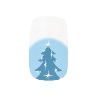 Holiday Fingernails Christmas Tree Nail Decals