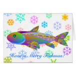 Holiday Fish and Colourful Snowflakes