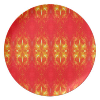 Holiday Flame Plate
