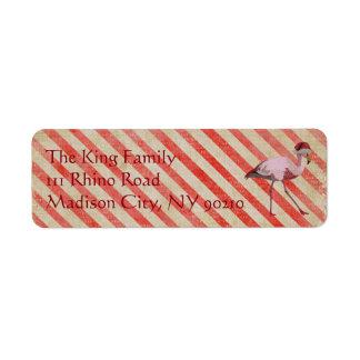 HOLIDAY FLAMINGO Address Label