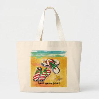 Holiday flip-flops -  tote jumbo tote bag