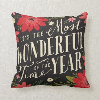 Holiday Floral Cushion