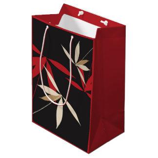 Holiday Floral Gift Bag Medium Gift Bag