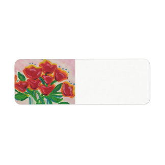 Holiday Floral Return Address Label