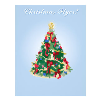 Holiday Flyer: Colorful Christmas Tree 21.5 Cm X 28 Cm Flyer